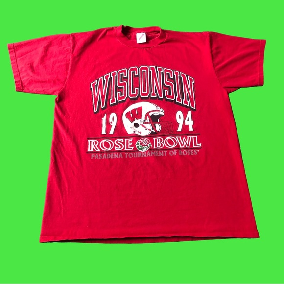 Jerzees Other - Vintage 1994 Wisconsin Rose Bowl Tee